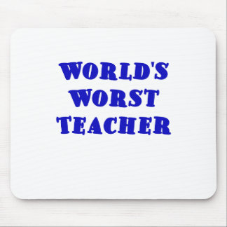 El profesor peor de los mundos mouse pads