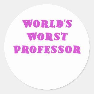 El profesor peor de los mundos pegatina redonda