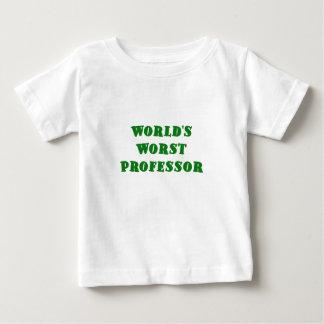 El profesor peor de los mundos playera para bebé