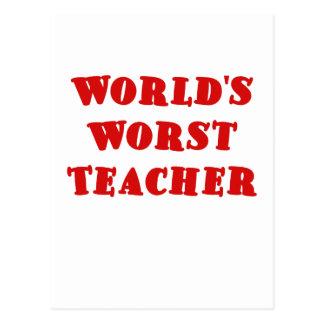 El profesor peor de los mundos postal