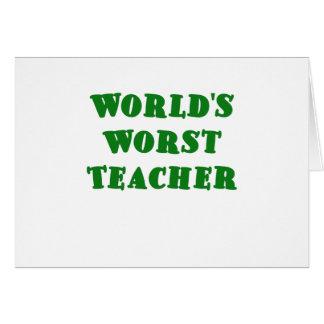 El profesor peor de los mundos tarjeta de felicitación