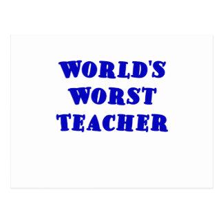 El profesor peor de los mundos tarjeta postal