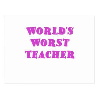 El profesor peor de los mundos tarjetas postales