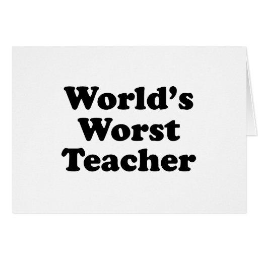 el profesor peor del mundo felicitación
