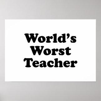 el profesor peor del mundo póster