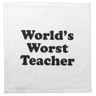 el profesor peor del mundo servilleta imprimida