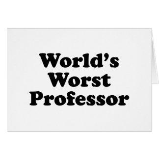 El profesor peor del mundo tarjeta de felicitación