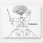 ¡El profesor, PIENSA! Mousepad Tapetes De Raton