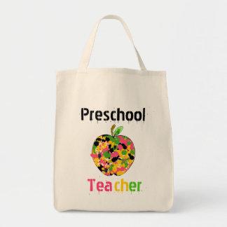 El profesor preescolar Apple empaqueta Bolsa Tela Para La Compra