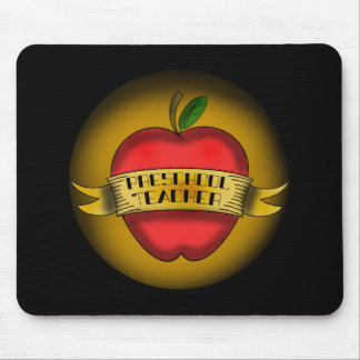 El profesor preescolar Apple tatúa Alfombrillas De Ratones
