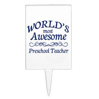 El profesor preescolar más impresionante del mundo decoraciones para tartas