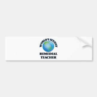 El profesor remediador más atractivo del mundo pegatina de parachoque
