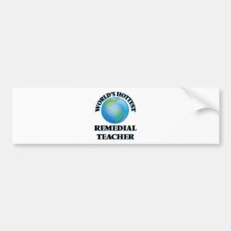 El profesor remediador más caliente del mundo etiqueta de parachoque