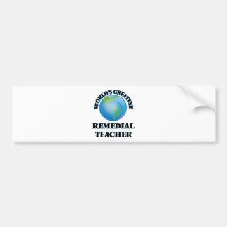 El profesor remediador más grande del mundo etiqueta de parachoque