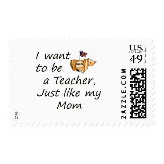 El profesor tiene gusto de la MAMÁ Timbre Postal