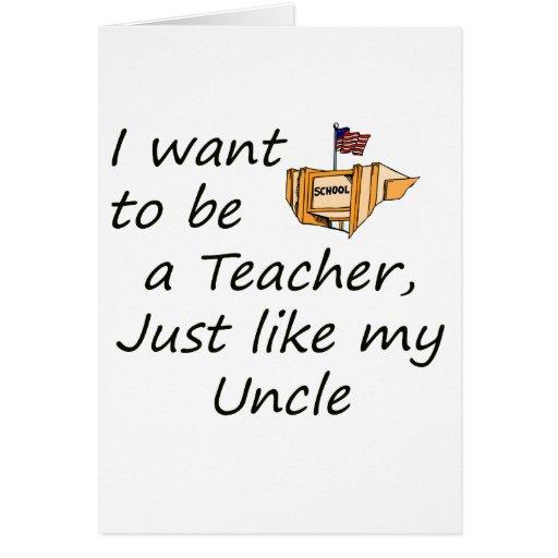 El profesor tiene gusto del tío tarjeta de felicitación