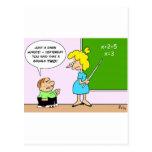 el profesor x del niño de la álgebra iguala ayer d tarjeta postal