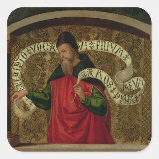 El profeta Amos, 1535 Pegatina Cuadrada