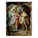 El profeta Elías y el ángel Tarjeta Postal