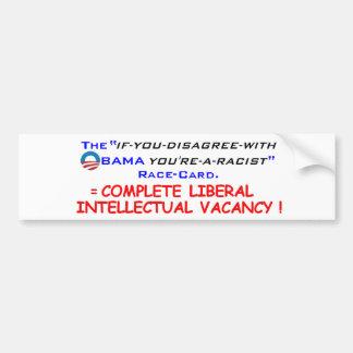 El programa de carreras de Obama Pegatina Para Auto