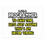 El programador… asume que nunca soy incorrecto postal