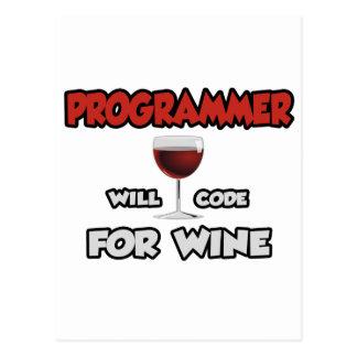 El programador… cifrará para el vino postales