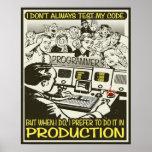 El programador I no prueba siempre mi código Poster