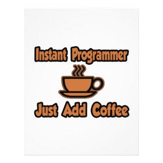 El programador inmediato… apenas añade el café tarjetón