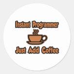 El programador inmediato… apenas añade el café etiquetas redondas