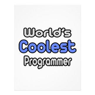 El programador más fresco del mundo tarjeta publicitaria