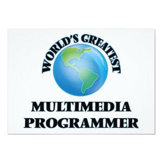 El programador más grande de las multimedias del invitacion personalizada