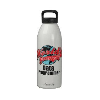 El programador más grande de los datos de los mund botellas de agua reutilizables