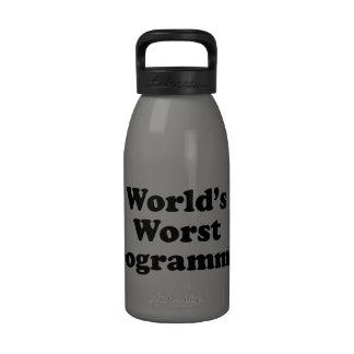 El programador peor del mundo botella de agua reutilizable