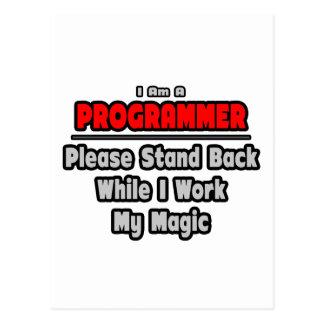 El programador… retrocede… el trabajo mi magia tarjetas postales