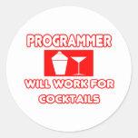 El programador… trabajará para los cócteles etiqueta redonda