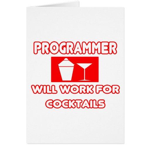 El programador… trabajará para los cócteles tarjeta