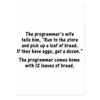 El programador y su esposa - en segundo lugar en postales