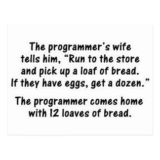 El programador y su esposa - en segundo lugar en tarjetas postales