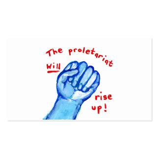 El proletariado de la justicia social de la sublev tarjetas de visita