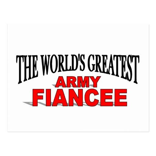 El prometido más grande del ejército del mundo tarjetas postales