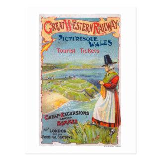 El promo de Great Western Railray viaja a País de Tarjeta Postal