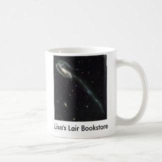 El promo de la librería de la galaxia del Tadpole Taza Básica Blanca