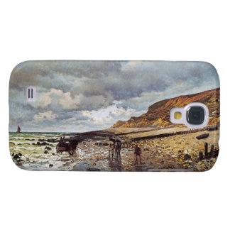 El promontorio del Heve Claude Monet con marea baj Funda Para Galaxy S4