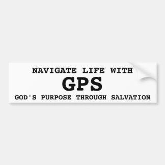 El propósito de dios de GPS con la salvación Etiqueta De Parachoque