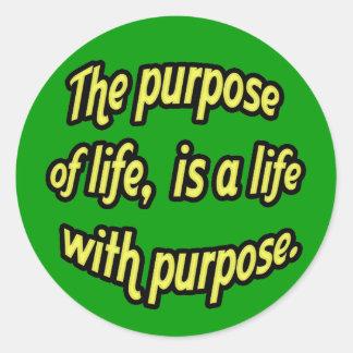 El propósito de la vida etiqueta