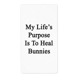 El propósito de mi vida es curar conejitos etiquetas de envío