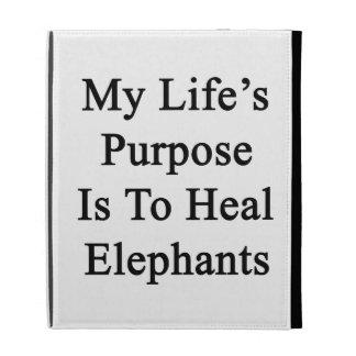 El propósito de mi vida es curar elefantes