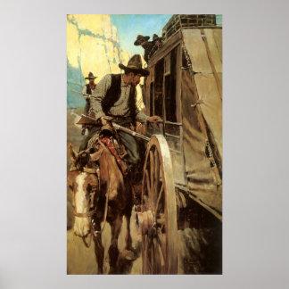 El proscrito admirable por NC Wyeth, vaqueros del Poster