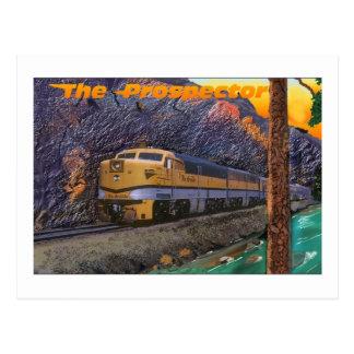 El prospector de Río Grande en la garganta real Postal