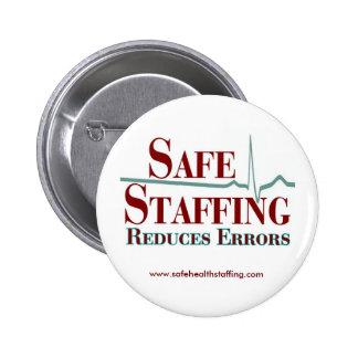 El proveer de personal seguro reduce el botón de l pin